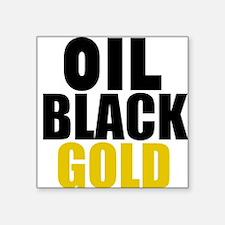 Oil Black Gold Sticker