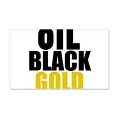 Oil Black Gold Wall Decal