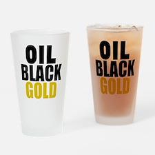 Oil Black Gold Drinking Glass