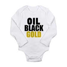 Oil Black Gold Body Suit