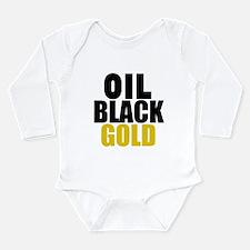 Oil Black Gold Body Suit