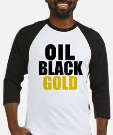 Oil Black Gold Baseball Jersey