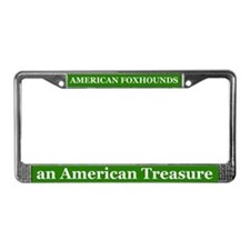 American Foxhounds License Plate Frame