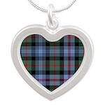 Tartan - Atholl dist. Silver Heart Necklace