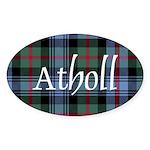 Tartan - Atholl dist. Sticker (Oval)