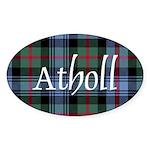 Tartan - Atholl dist. Sticker (Oval 10 pk)