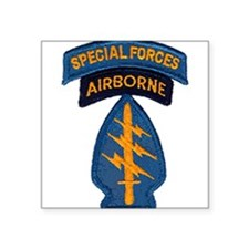 "Cute Special forces Square Sticker 3"" x 3"""