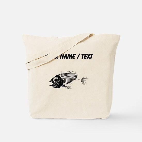 Custom Boney Fish Tote Bag