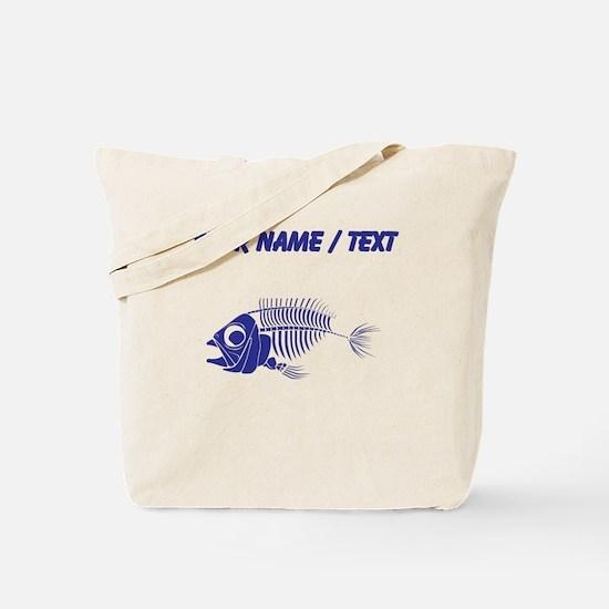 Custom Blue Boney Fish Tote Bag