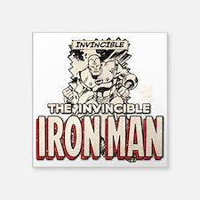 "Iron Man MC 3 Square Sticker 3"" x 3"""