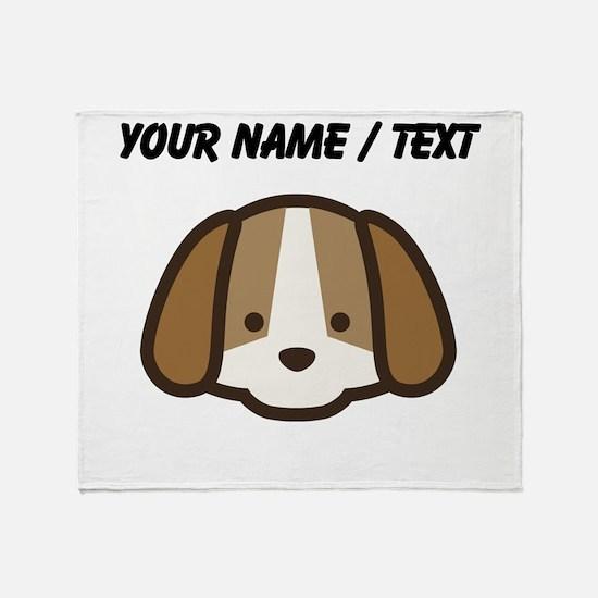 Custom Cute Puppy Throw Blanket