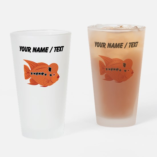 Custom Orange Tropical Fish Drinking Glass