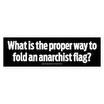 Folding Anarchy Flag Bumper Sticker