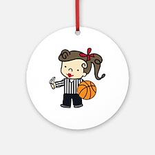 Girl Referee Ornament (Round)