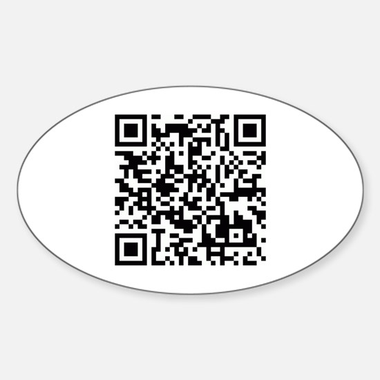 QR code for site Sticker (Oval)