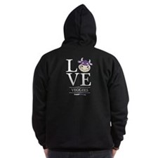Love Veggies Happycow Zip Hoodie
