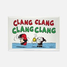 Snoopy and Lucy Christmas Rectangle Magnet