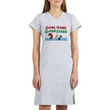 Snoopy and Lucy Christmas Women's Nightshirt