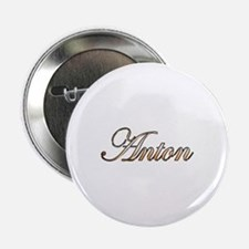 "Gold Anton 2.25"" Button"