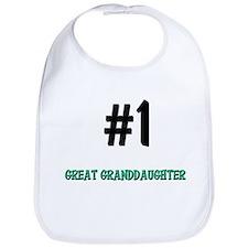 Number 1 GREAT GRANDDAUGHTER Bib