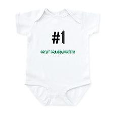 Number 1 GREAT GRANDDAUGHTER Infant Bodysuit