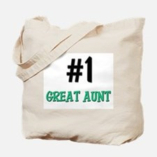 Number 1 GREAT AUNT Tote Bag