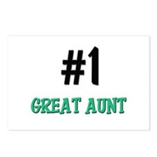 Number 1 GREAT AUNT Postcards (Package of 8)