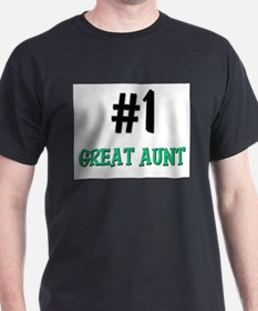 Number 1 GREAT AUNT T-Shirt