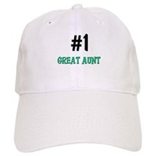 Number 1 GREAT AUNT Baseball Cap