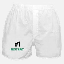 Number 1 GREAT AUNT Boxer Shorts