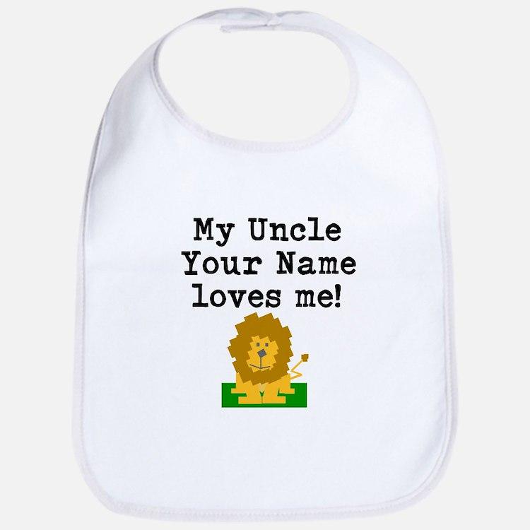 My Uncle Loves Me Lion (Custom) Bib