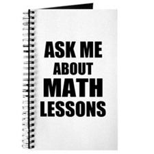 Ask me about Math lessons Journal