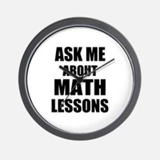 Ask me about Math lessons Wall Clock