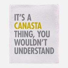 Its A Canasta Thing Throw Blanket
