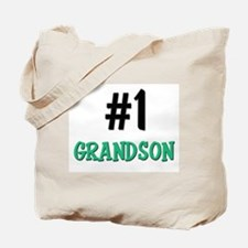Number 1 GRANDSON Tote Bag