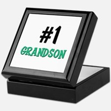Number 1 GRANDSON Keepsake Box