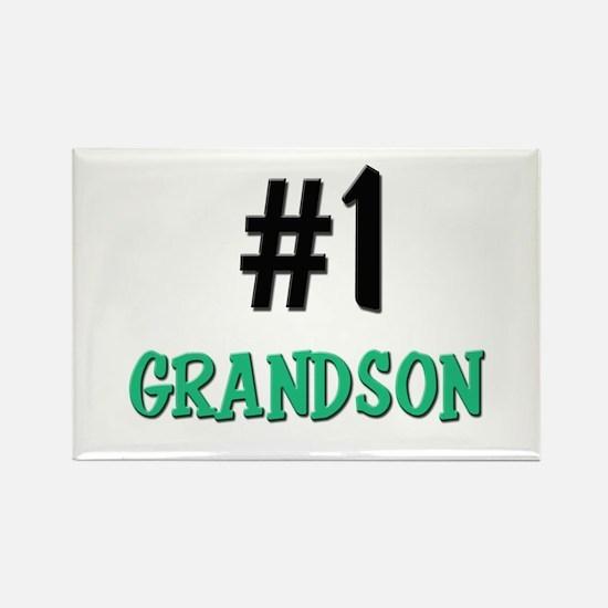 Number 1 GRANDSON Rectangle Magnet