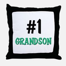 Number 1 GRANDSON Throw Pillow