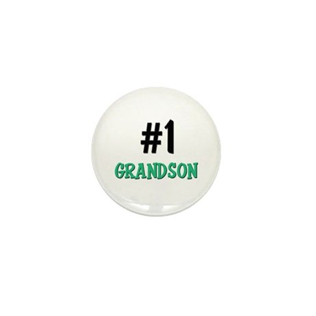 Number 1 GRANDSON Mini Button
