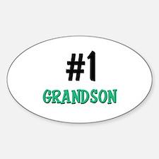 Number 1 GRANDSON Oval Decal