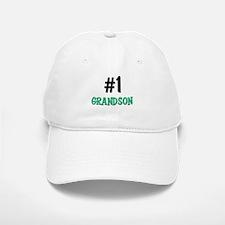 Number 1 GRANDSON Baseball Baseball Cap