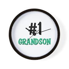 Number 1 GRANDSON Wall Clock