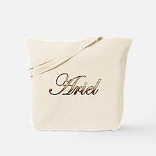 Gold Ariel Tote Bag