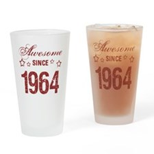 Awesome Since 1964 Drinking Glass