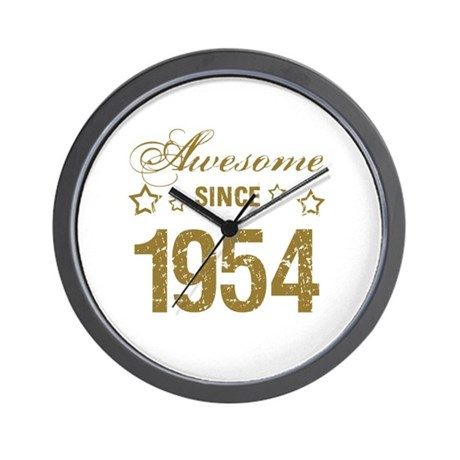 Awesome Since 1954 Wall Clock By Listing Store 1519247
