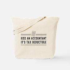 Kiss an accountant deductible Tote Bag