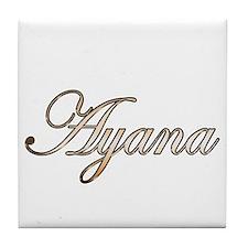 Gold Ayana Tile Coaster