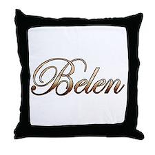 Gold Belen Throw Pillow