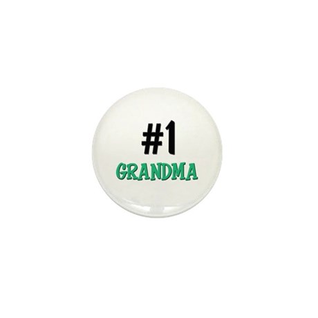 Number 1 GRANDMA Mini Button