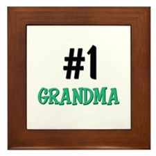 Number 1 GRANDMA Framed Tile